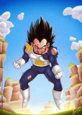 Illustration réaliste de Vegeta