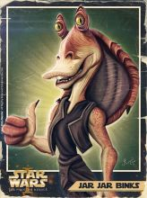 Caricature de Jar Jar Binks