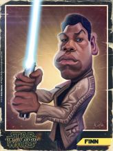 Caricature de John Boyega
