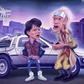 Caricature Retour vers le futur