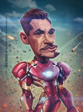 Caricature de Robert Downey Jr