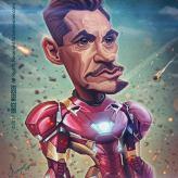 Caricature de Robert Downey Jr