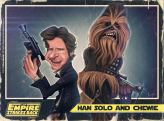 Caricature de Harrison Ford & Chewbacca