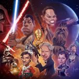 Caricature de Star Wars the force awakens