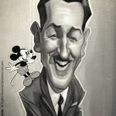 Caricature de Walt Disney
