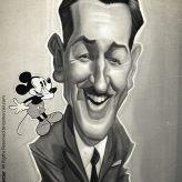 Caricature de Walt Disney